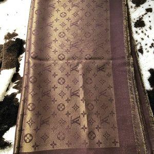 Louis Vuitton scarf brown